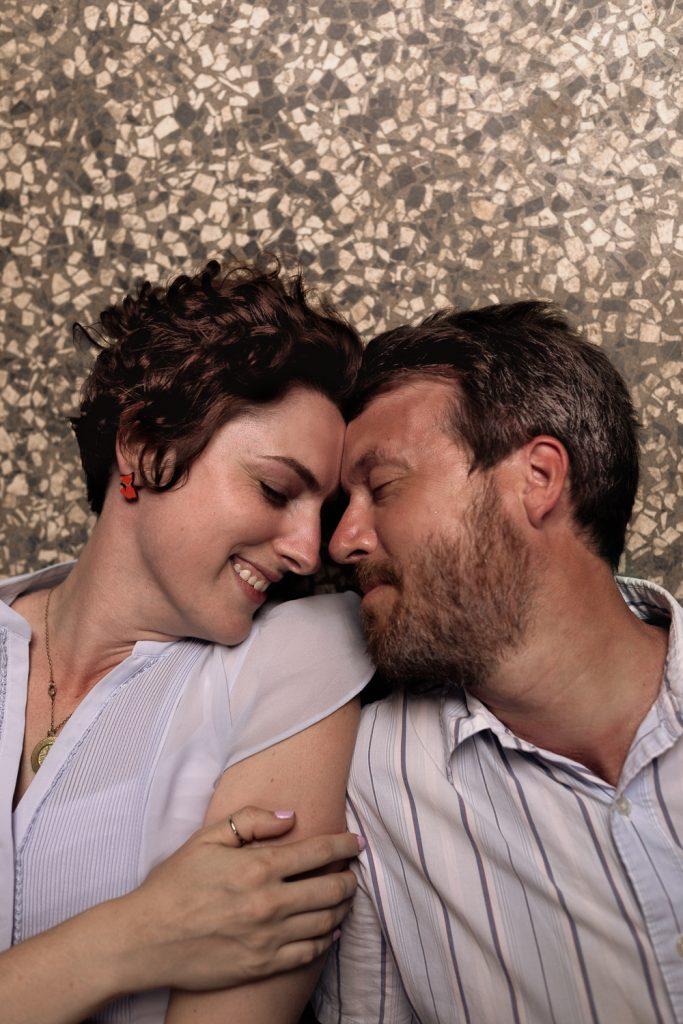 couples portrait close up